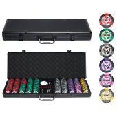 Набор для покера Black STARS  на 500 фишек (Премиум пластик)