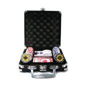 Набор для покера Crown black на 100 фишек