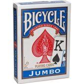 Карты Bicycle Standard Jumbo (синяя рубашка)