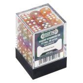 Кубики STUFF PRO D6 под мрамор 12мм, Золотые