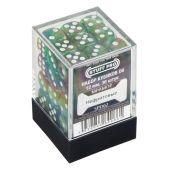 Кубики STUFF PRO D6 под мрамор 12мм Нефритовые