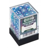 Кубики STUFF PRO D6 под мрамор 12мм Голубые