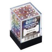 Кубики STUFF PRO D6 под мрамор 12мм Кофейные