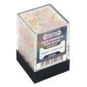 Кубики STUFF PRO D6 под мрамор 12мм Белый с золотым
